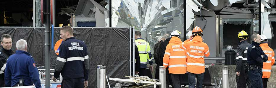 22 March 2016 Brussels Airport bombs damage